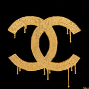Diamond Decor Wall Art Chanel Gold Lust 36 x 36 in. (PAQ010CXL)