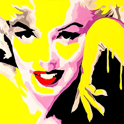 Diamond Decor Wall Art Temptress Marilyn Monroe 24 x 24 in. (PAQ002CL)