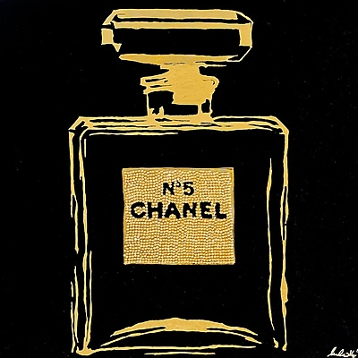 Diamond Decor Wall Art Chanel Black Urban Chic 24 x 24 in. (PAQ009CL)