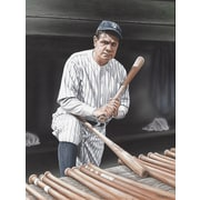 Diamond Decor Babe Ruth On Deck Artwork Canvas 12 x 16 in. (DV2014CS)