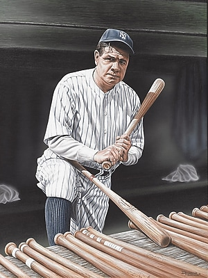Diamond Decor Babe Ruth On Deck Artwork Canvas 18 x 24 in. (DV2014CM)