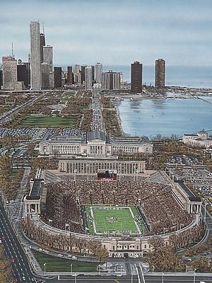 Diamond Decor Chicago's Soldier Field Artwork Canvas 12 x 16 in. (DV2005CS)