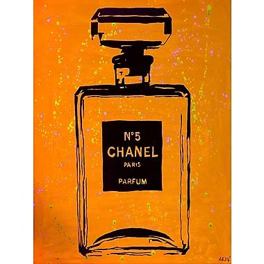Diamond Decor Chanel Pop Art Orange Chic 18 x 24 in. (PAQ019CM)