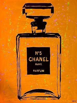 Diamond Decor Chanel Pop Art Orange Chic 12 x 16 in. (PAQ019CS)