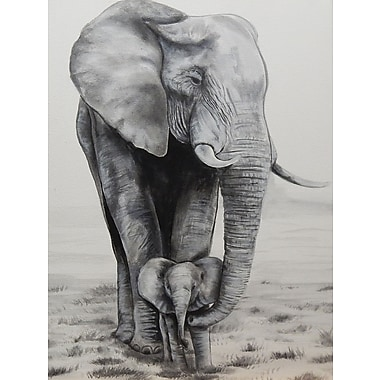 Diamond Decor Wall Art Elephant Love 18 x 24 in. (EDC045CM)
