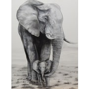 Diamond Decor Wall Art Elephant Love 12 x 16 in. (EDC045CS)