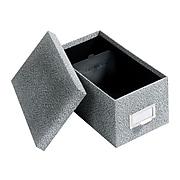 Globe-Weis Index Card File Box, Black Agate, 1000 Card Capacity (GLW 94 BLA)