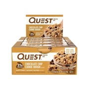 Quest Protein Bars, Chocolate Chip, 2.12 Oz., 12/Box (00003)
