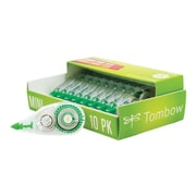 Tombow MONO Mini Correction Tape, White, 10/Pack (68722)