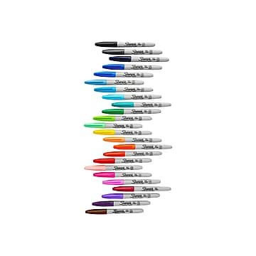 Sharpie Permanent Markers, Fine Point, Assorted Colors, 24/Pack (75846)