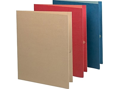 Earthwise by Oxford 2-Pocket Presentation Folders, Assorted Colors, 25/Box (OXF 78513)