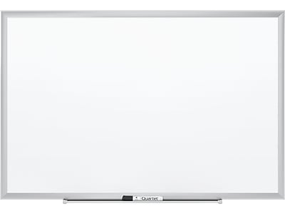 Quartet Nano-Clean Painted Steel Dry-Erase Whiteboard, Aluminum Frame, 4' x 3' (SM534)