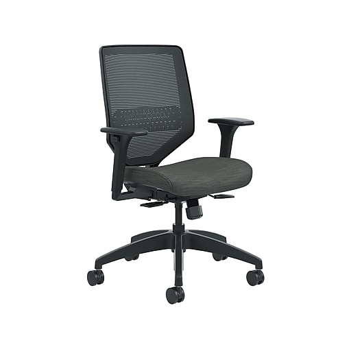 HON Solve Mesh Back Fabric Computer and Desk Chair, Ink (HONSVM1ALC10TK) NEXT2019 NEXT2Day