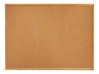 Quartet Classic Cork Bulletin Board, Oak Frame, 3'H x 5'W (305)