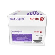 "Xerox Bold Digital 8.5"" x 11"" Bond Paper, 24 lbs., 98 Brightness, 500/Ream, 10 Reams/Carton (3R11540)"