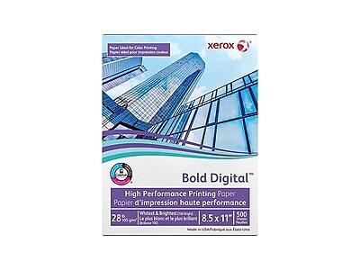 """Xerox Bold Digital 8.5"""" x 11"""" Bond Paper, 28 lbs., 100 Brightness, 500/Ream (3R11760)"""