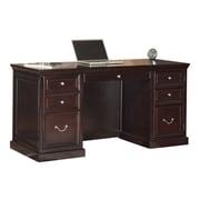 "kathy ireleand FULTON Space Saver 61""W Pedestal Desk, Espresso (FL660)"