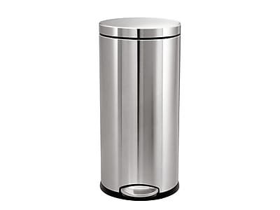 simplehuman Indoor Step Trash Can, Brushed Stainless Steel, 9.25 Gal. (CW1894)