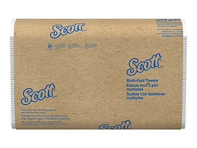 Scott Essential Multifold Paper Towels, 1-Ply, 250 Sheets/Pack, 16 Packs/Carton (01804)