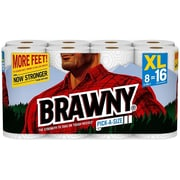 Brawny Pick-A-Size XL Kitchen Roll Paper Towels, 2-Ply, 130 Sheets/ Roll, 8 Rolls/Carton (441375)