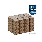 Dixie Ultra Dispenser Napkins, 2-Ply, Brown, 250/Pack, 24 Packs/Carton (32019)