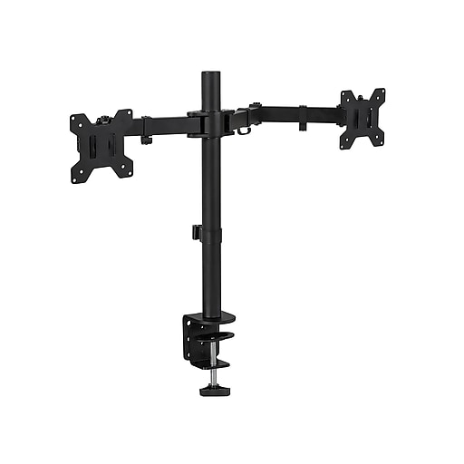 "Mount-It! Dual Monitor Arm, Up To 27"" Monitor, Black (MI-2752)"