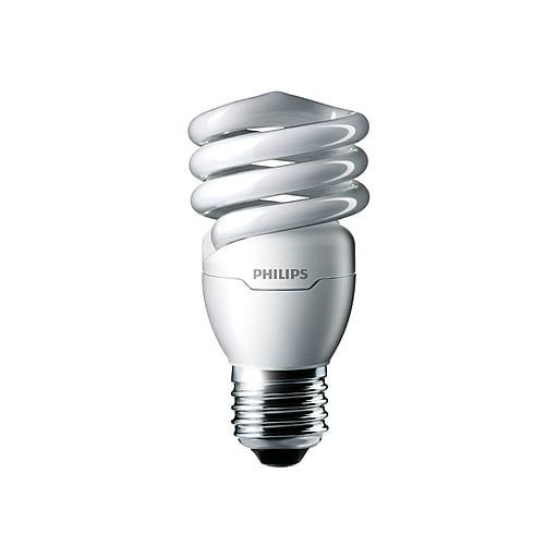 Philips Energy Saver 13 Watts Warm White Compact Fluorescent (CFL) Bulbs, 6/Carton (413996)