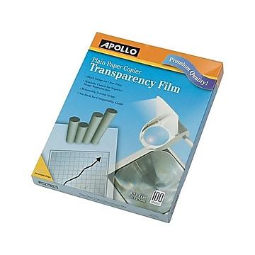 "Apollo Transparency Film with Removable Sensing Stripe, 8.5"" x 11"", 100/Box (PP201C)"