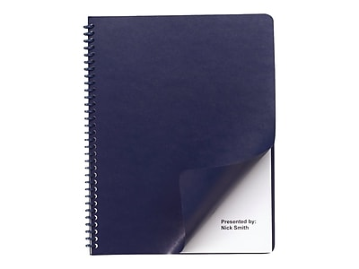 Swingline GBC Regency Premium Presentation Covers, Letter Size, Navy, 200/Pack (9742490)