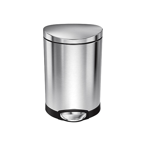 Simplehuman Mini Semi Round Step Trash Can 16 Gal Staples