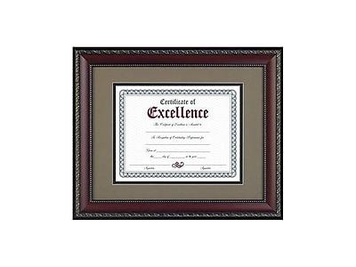 DAX World Class Wood Certificate Frame, Walnut (N3245S2T)