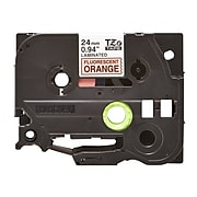"Brother TZEB51 Label Maker Tape, 0.94""W, Black On Fluorescent Orange"
