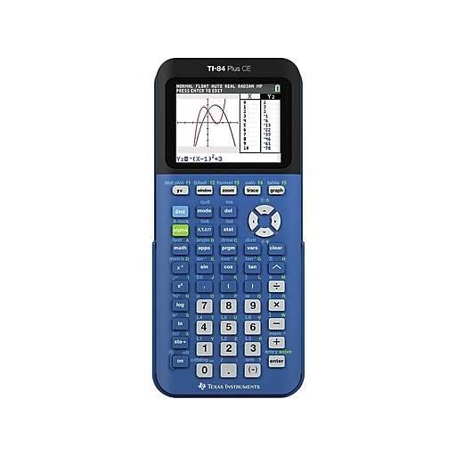 Texas Instruments TI-84 Plus CE 10-Digit CAS Graphing Calculator, Bionic  Blue