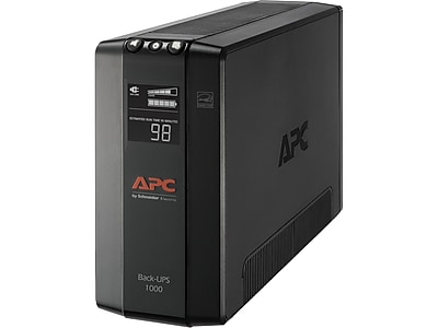 APC Back-UPS Pro Compact Tower LCD Battery Backup & Surge Protector w/ USB, 8 Outlets (BX1000M)