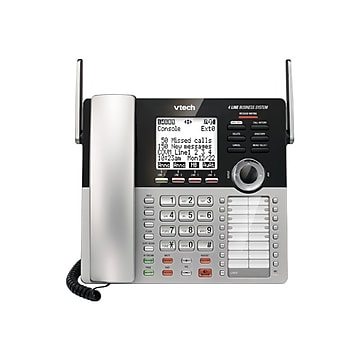 VTech Small Business System 80-0978-00 4-Line Cordless Phone, Silver/Black