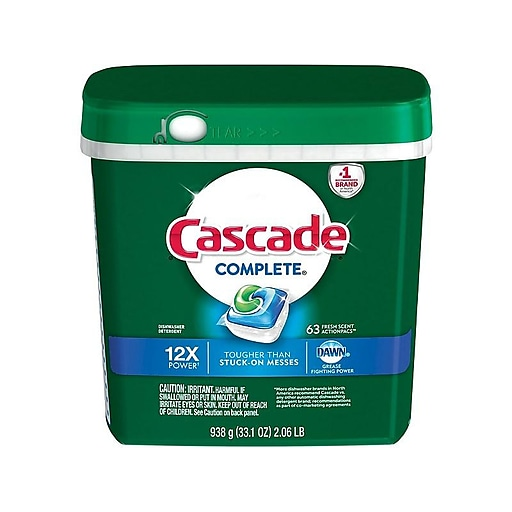 Cascade® Complete™ ActionPacs™ Dishwasher Detergent, Fresh