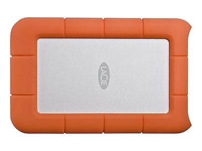 LaCie Rugged Mini 2TB USB 3.0 External Hard Drive, Orange/Silver (LAC9000298)