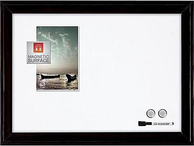 Quartet Home Decor Steel Dry-Erase Whiteboard, Wood Frame, 2' x 1.5' (79282)
