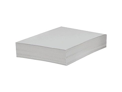 """Domtar EarthChoice Vellum Bristol Cover Paper, 67 lbs, 8.5"""" x 11"""", Bright White, 250/Pack (82880)"""