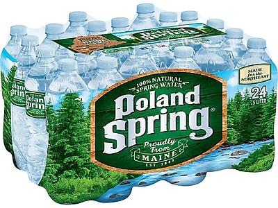 Poland Spring 100% Natural Spring Water, 16.9 Oz., 24/Carton (075720004096)
