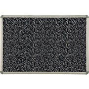 Best-Rite Rubber-Tak Bulletin Board, Euro Frame, 4'H x 5'W (321RF-96)
