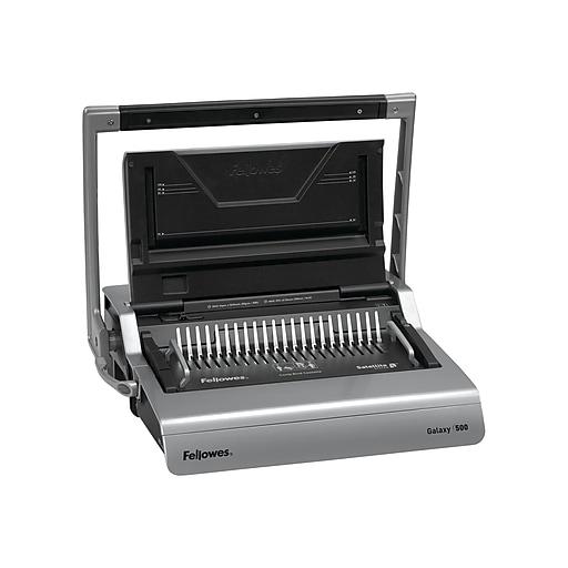 Fellowes Galaxy 5218201 Comb Binding Machine, 500 Sheet Capacity