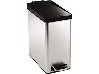 simplehuman Indoor Step Trash Can, Brushed Stainless Steel, 2.64 Gal. (CW1180)