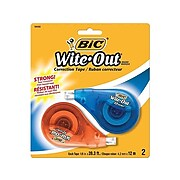 BIC Wite-Out EZ Correct Correction Tape, White, 2/Pack (50592)