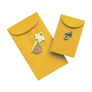"Quality Park Gummed Currency Envelopes, 3 1/2"" x 6 1/2"", Manila, 500/Box (50762)"