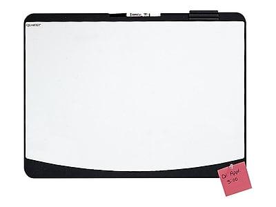 Quartet Designer Tack & Write Melamine Dry-Erase Whiteboard, Plastic Frame, 2' x 1.5' (06355BK)