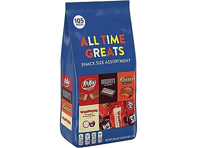 Hershey's All Time Greats Assorted Bulk Pack, Variety, 38.9 Oz. (HEC20243)