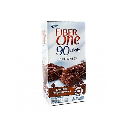Fiber One Brownies, Chocolate Fudge, 0.88 Oz., 24/Box (220-00454)
