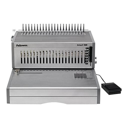 Fellowes Orion 5643201 Comb Binding Machine, 500 Sheet Capacity