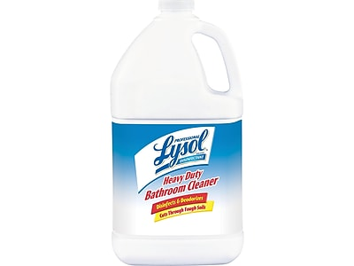 Lysol® Disinfectant Heavy Duty Bathroom Cleaner, 1 Gallon | Staples